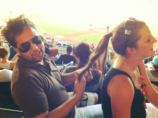August Durham Bulls - He does hair.