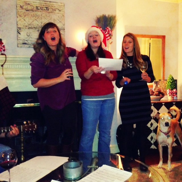 December - Caroling with a slew of ridiculously wonderful people